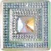 Glitz Sew-on Stone 10pcs Square 40mm Crystal Aurora Borealis